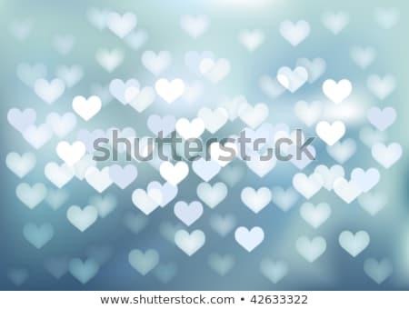 blurry lights heart shape stock photo © alexaldo