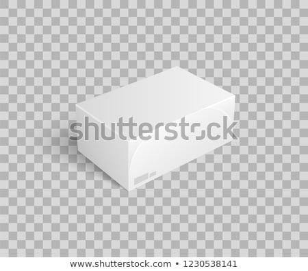 Cartão pacote coisas ícone vetor isolado Foto stock © robuart