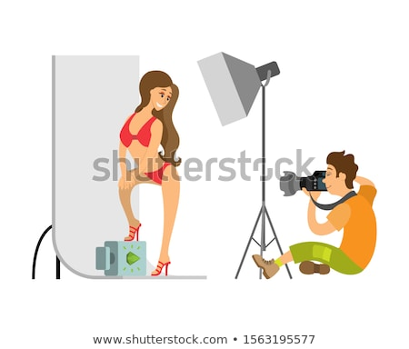 Photographer Shooting Model in Swimsuit at Studio Stock photo © robuart