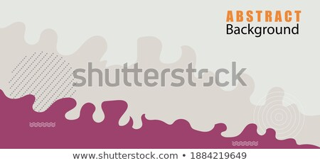 Fluid Liquid Abstract Background Vector. Curve Shape Minimalism. Decoration Smooth. Blurred Print. 3 Stock photo © pikepicture