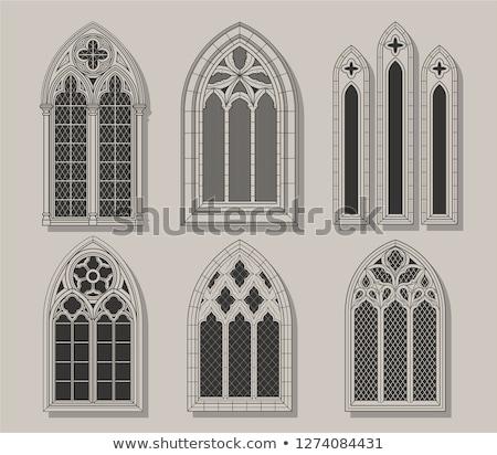 window on old castle wall Stock photo © taviphoto