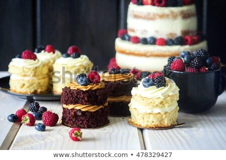 Stock fotó: Mini cakes with fresh vanilla cream