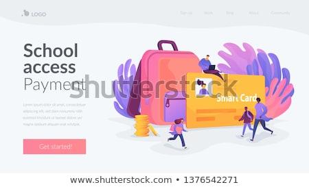 Smartcards for schools landing page template. Stock photo © RAStudio