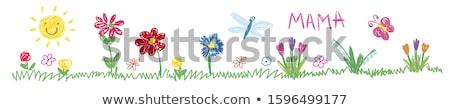 Children and flowers stock photo © colematt