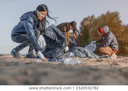 Cleaning beach Stock photo © pressmaster