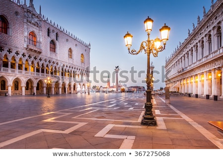 Morning in Venice street with canal Stock photo © vapi