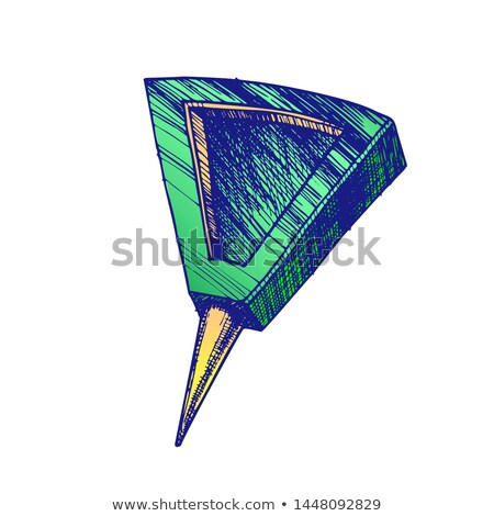 Stationery Pushpin With Triangle Form Top Vector Stock photo © pikepicture