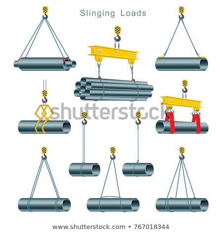 Crane with Load, Lift Equipment, Building Vector Stock photo © robuart