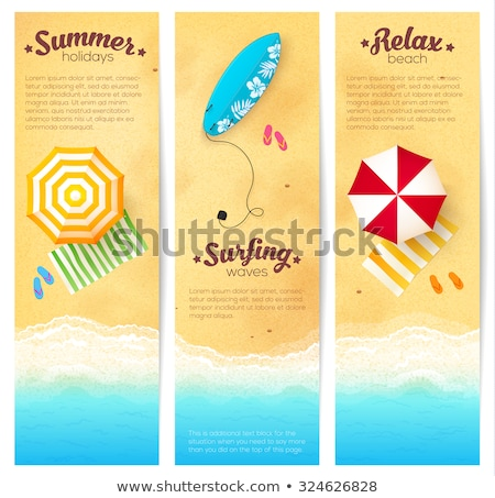 Stock photo: Summer Season Exotic Icons Set Vector Illustration