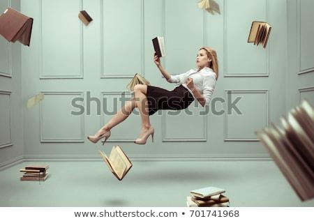 woman flies, fairy sorceress Stock photo © rogistok