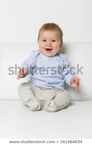портрет Sweet ребенка мальчика сидят диван Сток-фото © lichtmeister