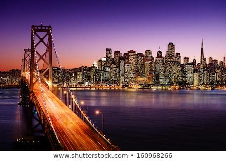 San · Francisco · absztrakt · sziluett · Golden · Gate · híd · illusztráció · belváros - stock fotó © mark01987