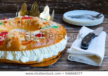 roscon de reyes, spanish three kings cake Stock photo © nito