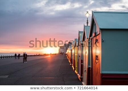 Strand zomer zand hand miniatuur woord Stockfoto © ivonnewierink