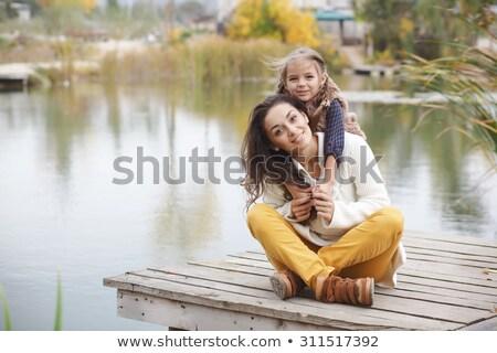 Photo stock: Heureux · jeunes · mère · peu · fille · automne