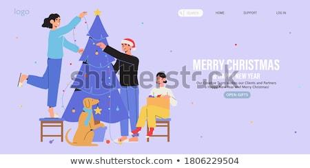 Familie voorbereiding christmas home vector moeder Stockfoto © robuart