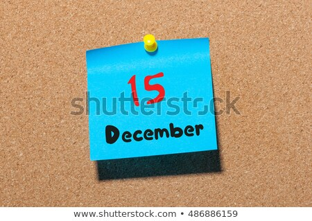 Cubes calendar 15th December Stock photo © Oakozhan