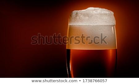 Piwo jasne pełne piwa szkła biały cap piana Zdjęcia stock © cookelma