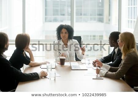 Zakelijke bijeenkomst baas bedrijf directeur conferentie vergadering Stockfoto © robuart