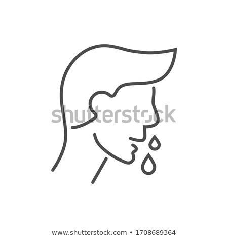 Runny nose related vector thin line icon Stock photo © smoki