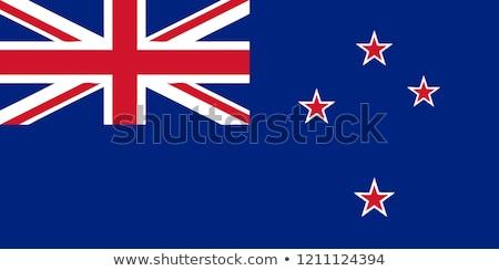 Nova Zelândia bandeira branco fundo ilha objeto Foto stock © butenkow