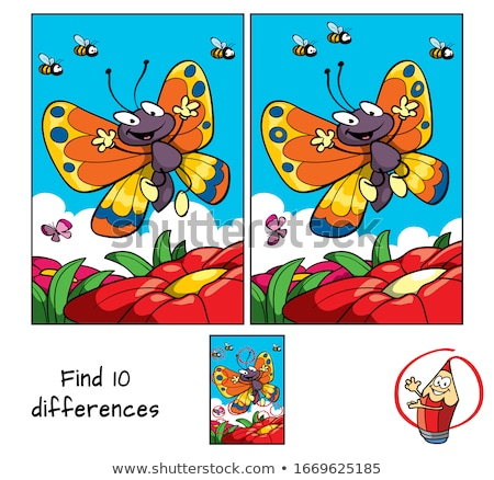Verschillen onderwijs taak cartoon illustratie Stockfoto © izakowski