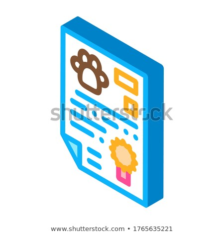 Official Animal Passport isometric icon vector illustration Stock photo © pikepicture