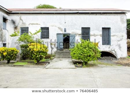 Folyó rum szeszfőzde Grenada alkohol hordó Stock fotó © phbcz