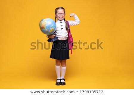 Küçük okul dünya yalıtılmış beyaz harita Stok fotoğraf © Borissos