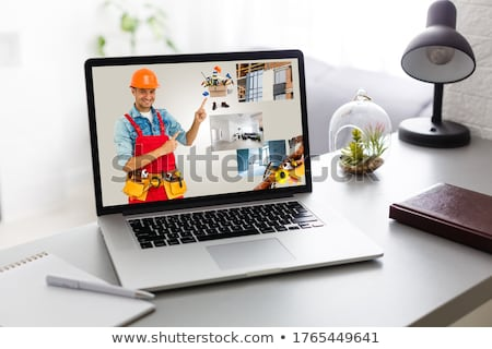 Handyman with a laptop Stock photo © photography33