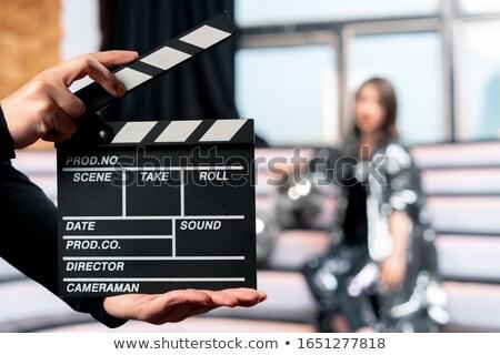 film · bord · isolé · blanche · cinéma · noir - photo stock © jeayesy