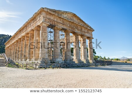 寺 素晴らしい シチリア島 14 列 イタリア ストックフォト © rmarinello