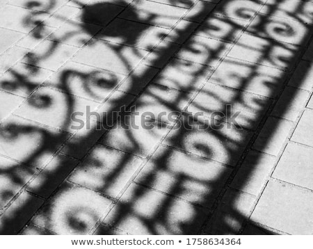 Wrought Iron Gate And Shadow Stock photo © searagen