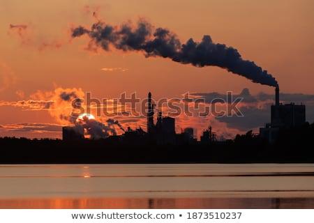 воздуха · загрязнения · завода · дым · закат · глобальный - Сток-фото © smithore