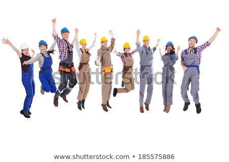 Tradesman jumping in the air Stock photo © photography33