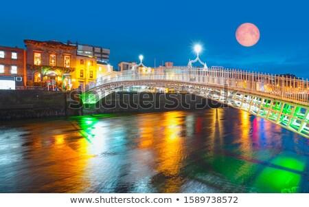 Full Moon and the pedestrian bridge Stock photo © benkrut