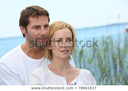 couple posing in front of reeds Stock photo © photography33