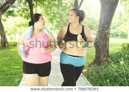 Portré két nő testmozgás nők boldog sportok Stock fotó © photography33