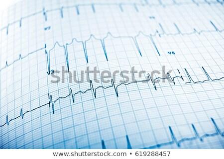 Electrocardiogram close-up Stock photo © Loochnik