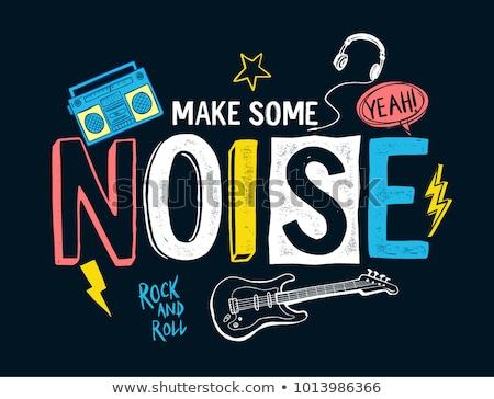 alto-falante · equalizador · Áudio · festa · vermelho · preto - foto stock © articular