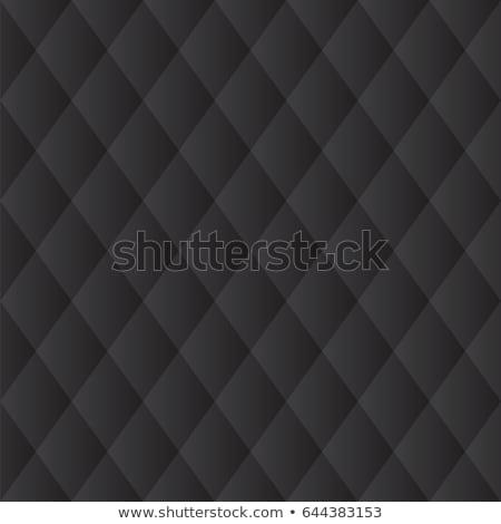Black diagonal stitched leather background Stock photo © Arsgera