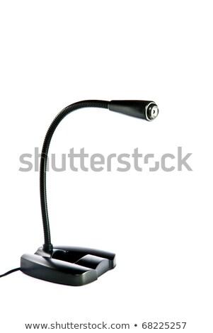 Modern fekete mikrofon hordozható méret asztali számítógép Stock fotó © ozaiachin