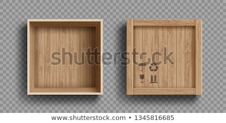 Ahşap kutu beyaz taşıma teslim konteyner Stok fotoğraf © perysty