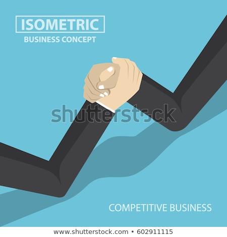 Zakenlieden arm worstelen zakenman mannen oorlog uitvoerende Stockfoto © photography33