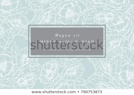 Vetor floral azul ouro abstrato folha Foto stock © fixer00