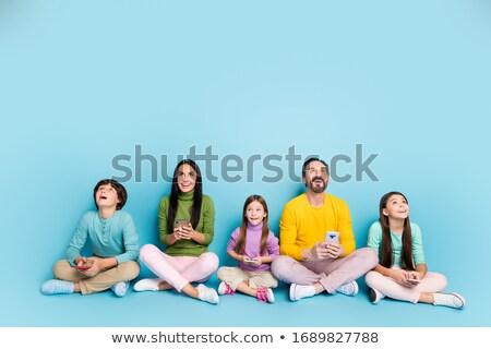 Megrémült gyerekek telefon kezek boldog mobil Stock fotó © photography33