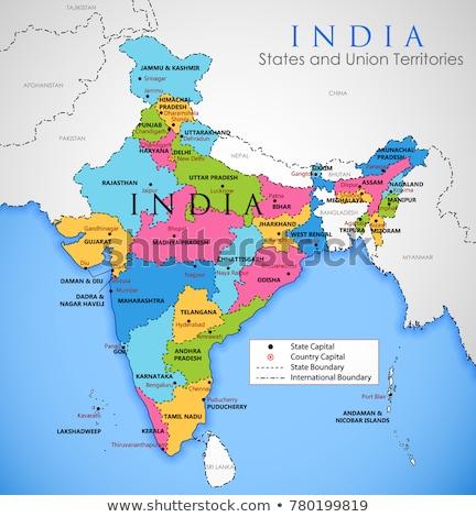 India Map Stockfoto © Vectomart