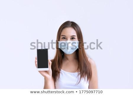 Portré csinos fiatal nő mellény arc fiatal Stock fotó © photography33