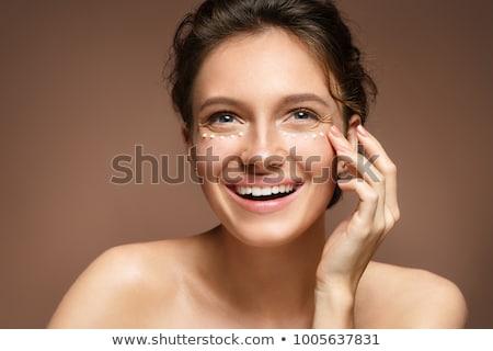 szem · krém · közelkép · nő · jelentkezik · nők - stock fotó © photography33