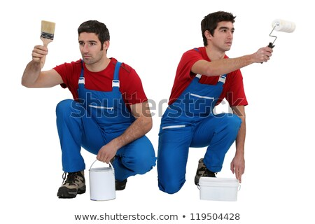 two decorators working in unison stock photo © photography33